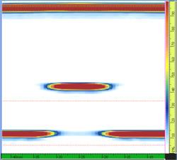 Images provenant de l'inspection par ultrasons multiéléments d'un métal altéré