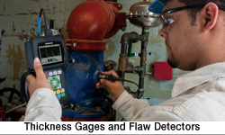 thickness gauges and flaw detector