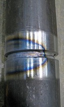 The end of a welding rod is often not covered in flux