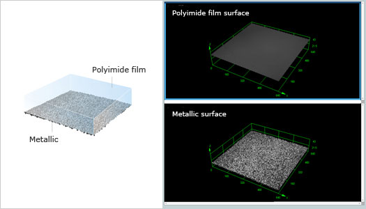 Polyimide film on a metal substrate