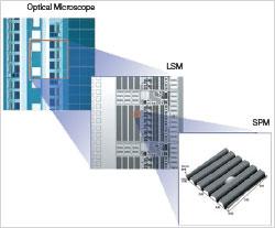 Une conception intégrée sur un seul microscope. En basculant du mode grossissement au mode observation, plus besoin d'enlever et de repositionner l'échantillon sur un autre microscope