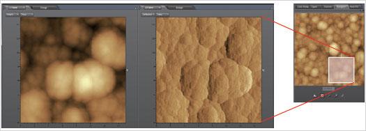 ナビゲータ機能でSPM画像を自在に拡大