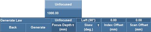 Figure 5: Setting the focus depth to Unfocused