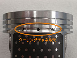Piston cooling channels