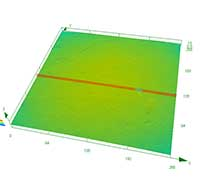 3D surface measurements of a ball bearing after 02
