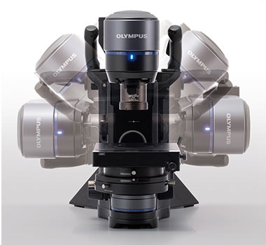 Tilting head of the DSX1000 microscope
