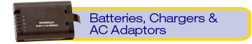 batteries, charges & AC adaptors
