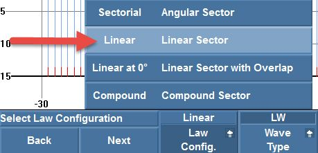 "Setting the law configuration to ""Linear"