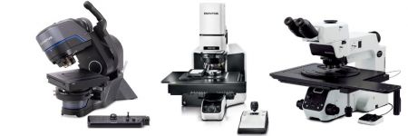 Three industrial Microscopes