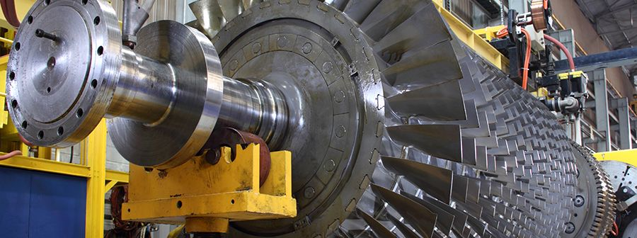 Figure 1—The rotating parts of a turbine require regular inspection to maintain safety and efficient operation.